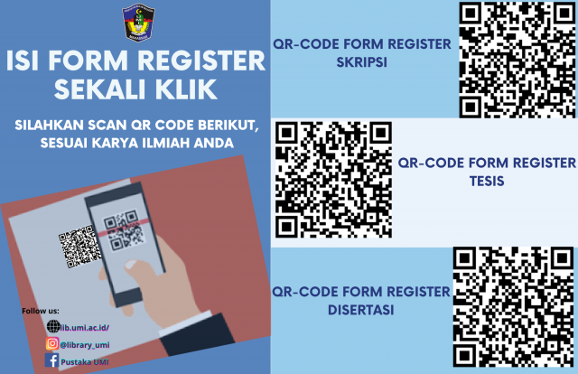 ISI FORM REGISTER BEBAS PUSTAKA, CUKUP SCAN QR-CODE AJA